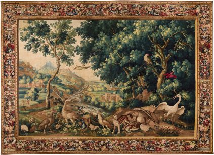 Landscape with Lynx - Beauvais Royal Manufactory - Galerie Hadjer