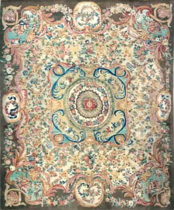 Savonnerie Carpet Louis XV - Aubusson Manufactory - Galerie Hadjer